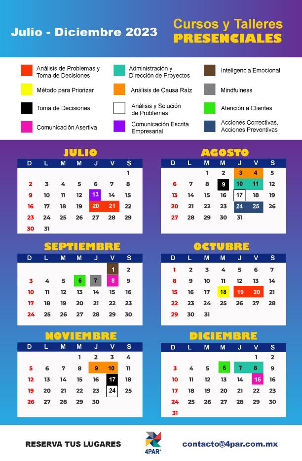 Calendario de capacitación empresarial 2021